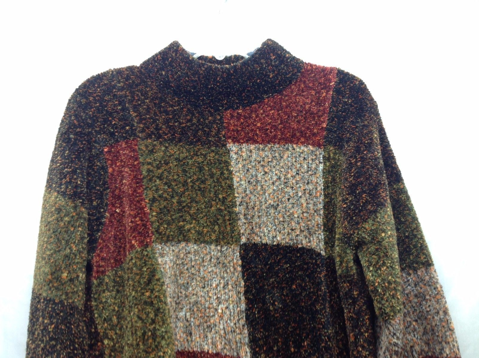 Dressbarn Womens Fuzzy Patchwear Sweater Sz 2X