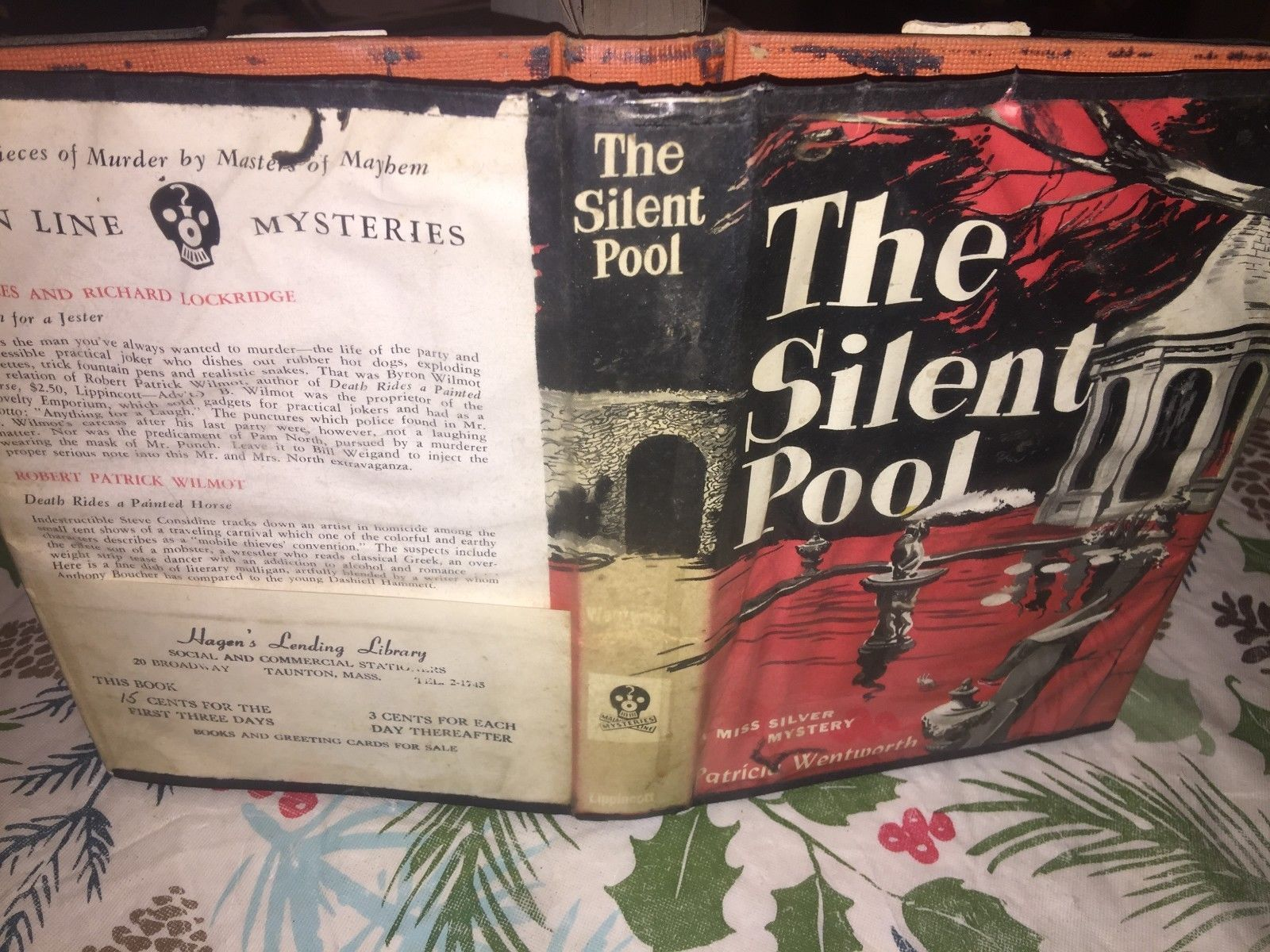 Wentworth, Patricia The Silent Pool 1953 first Edition HC\DJ plastic cover