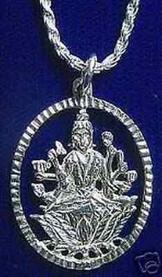 Saraswati Goddess OM Silver Charm Pendant Jewelry Hindu