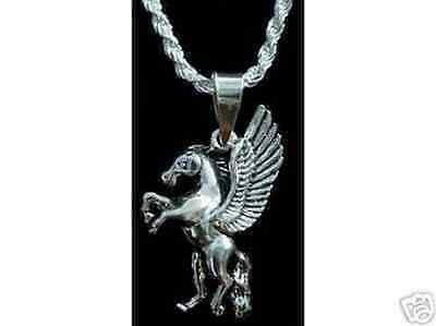 Silver Pegasus Pendant Charm Horse Celtic Jewelry