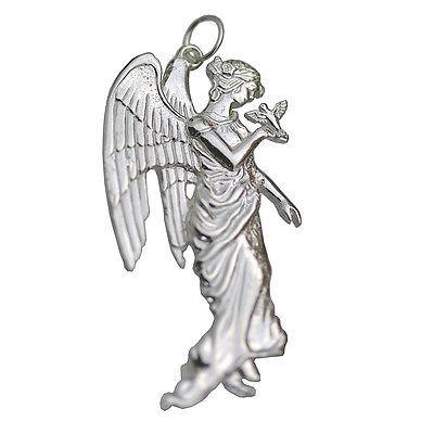 Guardian Angel Bird Friend charm Genuine Real Sterling Silver .925 Jewelry