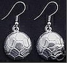 New Soccer Ball Earrings Sterling Silver Jewelry - $21.05