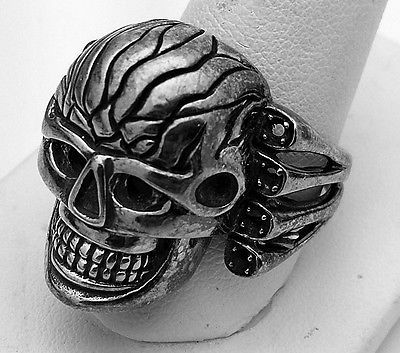 Attack on Zombie Skull Titan Ring Sterling Silver Skeleton Jewelry Pick your SZ