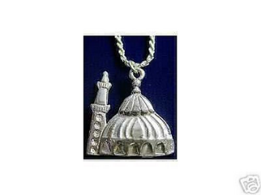 Masjid Pendant House of Allah Silver Islamic Jewelry