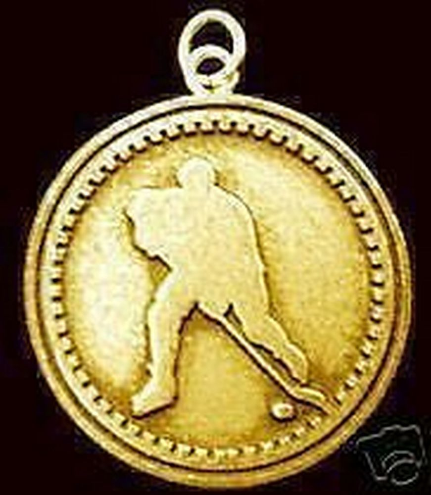 1842 Gold Plated Hockey Faith God prayer Charm Pendant