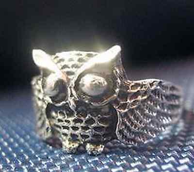 2727 Owl Full body sterling silver ring jewelry bird