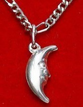 Celtic Crescent Moon Sterling Silver .925 Pendant Charm - $12.45