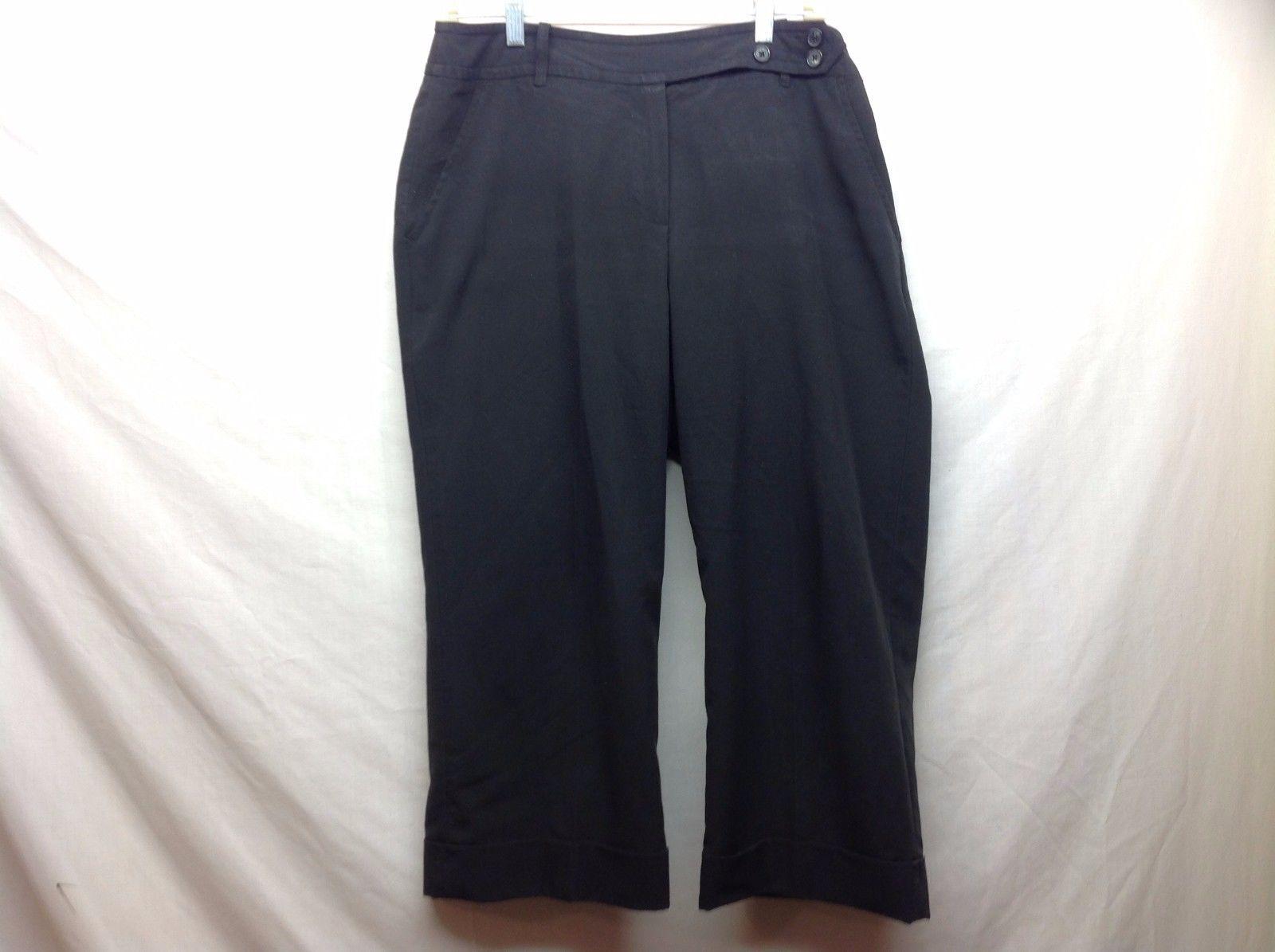 Larry Levine Stretch Ladies Black Casual Pants Sz 12