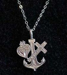Faith Hope Charity 925 Silver pendant charm Jewelry