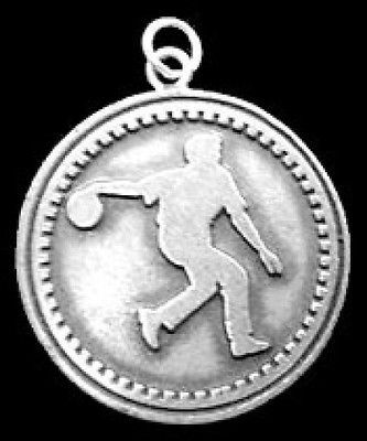 Bowling Faith in God prayer Charm Sterling silver .925