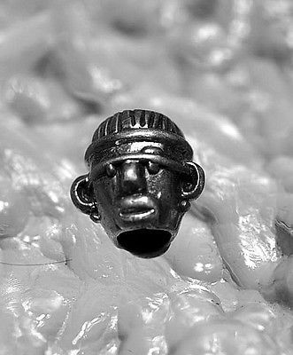 New Tribal guardian spirit ancient witch doctor Mask bead Sterling silver charm