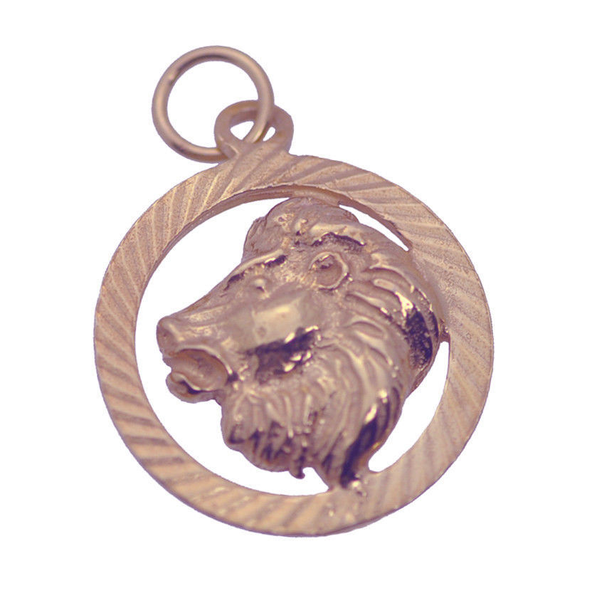 Leo Rose Gold Pltd SILVER Pendant Zodiac Charm Lion Jewelry fire sign Horoscope
