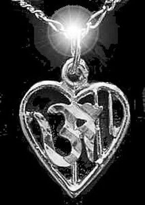 OM India Hindu Krishna Pendant Charm Sterling silver