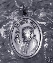 New Sterling Silver 925 St. Saint Padre Pio Charm Medal - $19.15