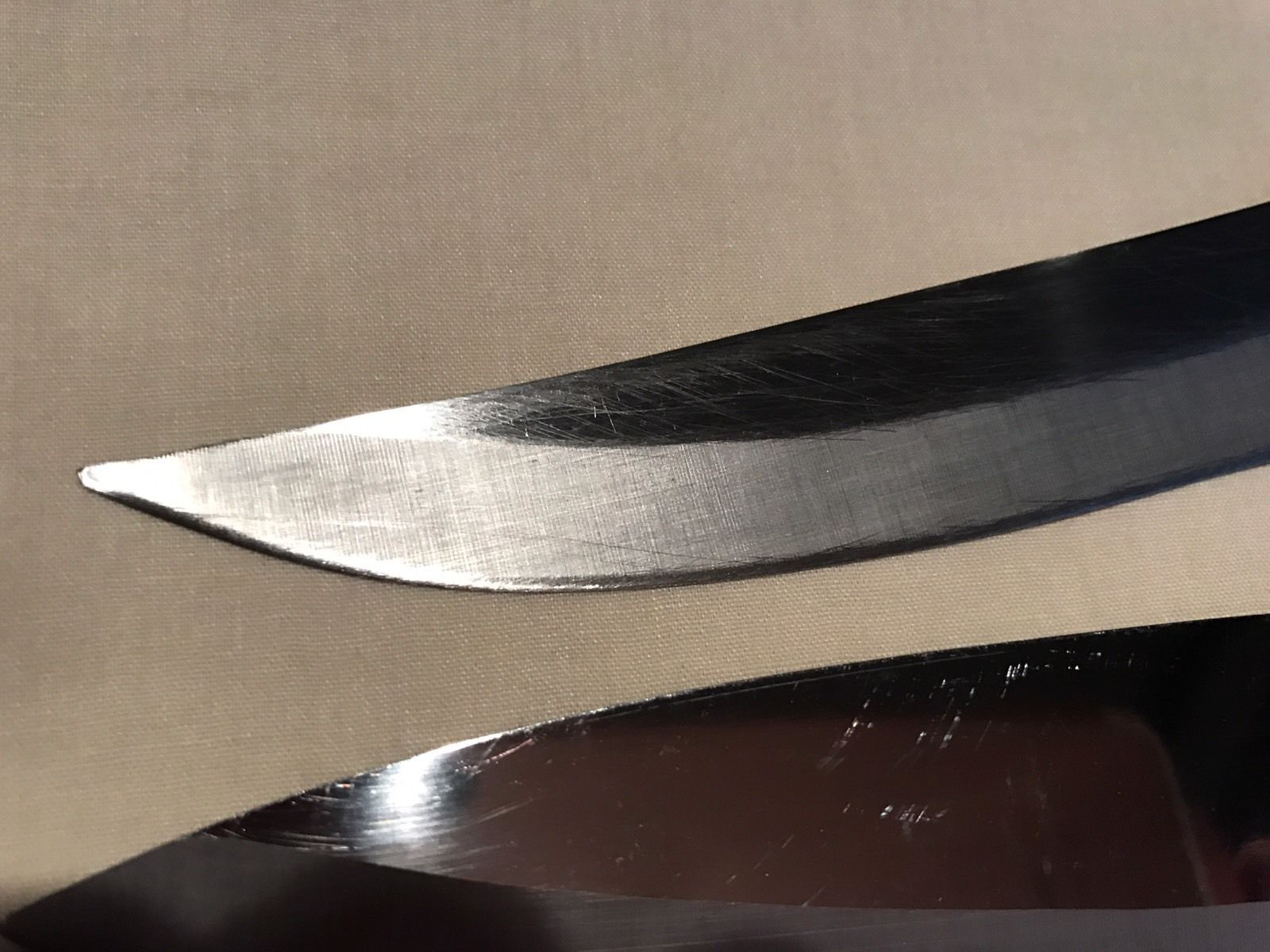 "2 Vtg Falcon Cutlery T M Stainless Knives Japan Chef's 12 3/4"" Carving 12"""