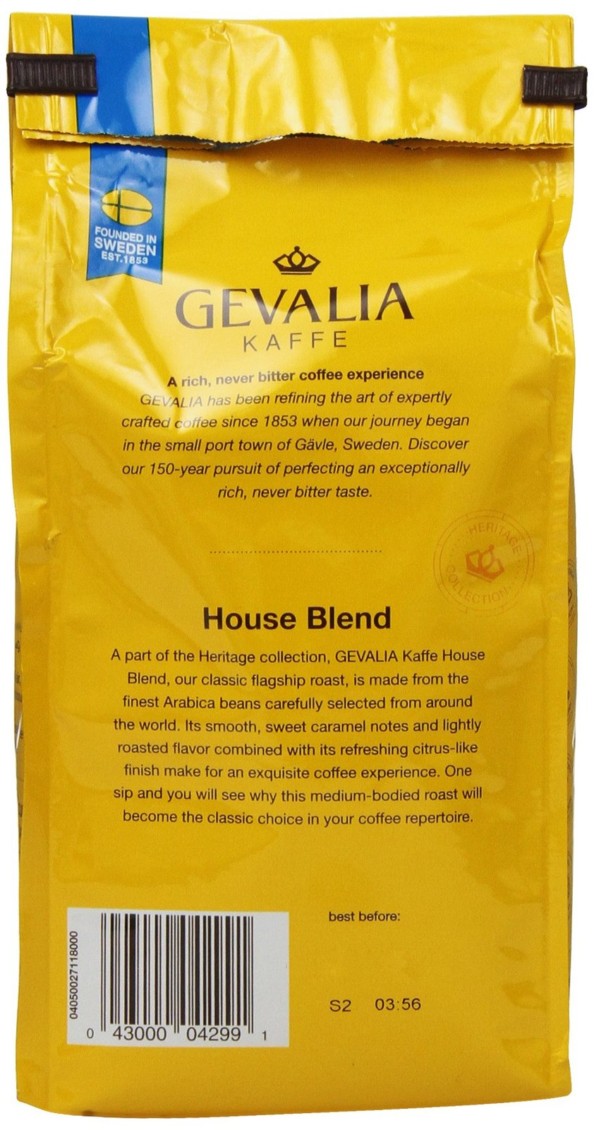 Gevalia, Ground Coffee, House Blend, 12oz Bag (Pack of 2)