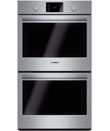 "Bosch HBL5551UC 500 Series 30"" Double Electric Wall Oven in Stainless Steel - $1,678.17"