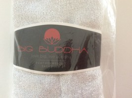 BIG BUDDHA Solid Shimmer Featherweight Pashmina Scarf WHITE 20X68 NEW! - $15.99