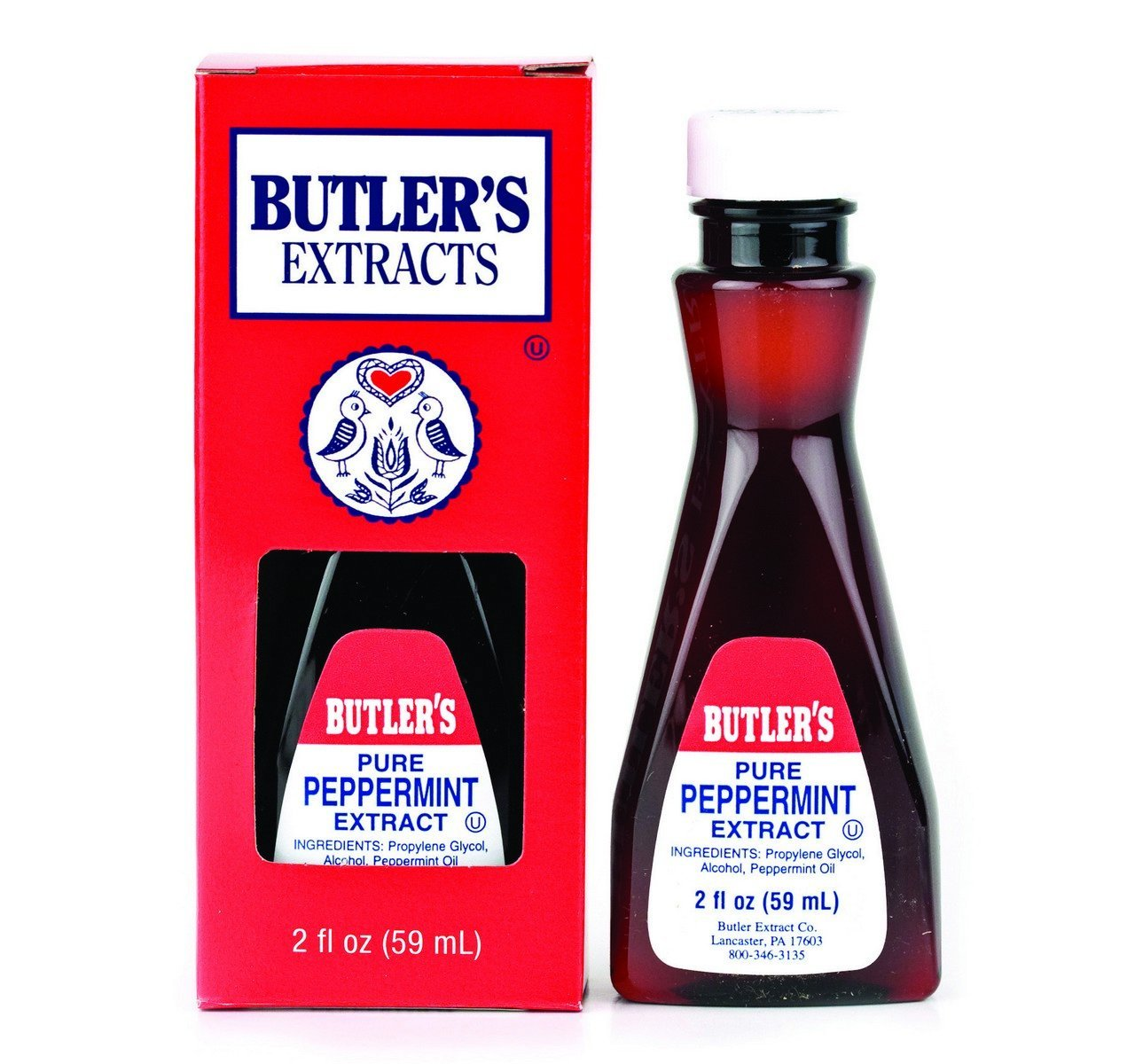 Butler's Pure Peppermint Extract, 2 Oz. Bottle (Pack of 2)