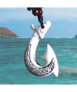 """Hawaiian Fish Hook Necklace 2"""" high - $25.00"""