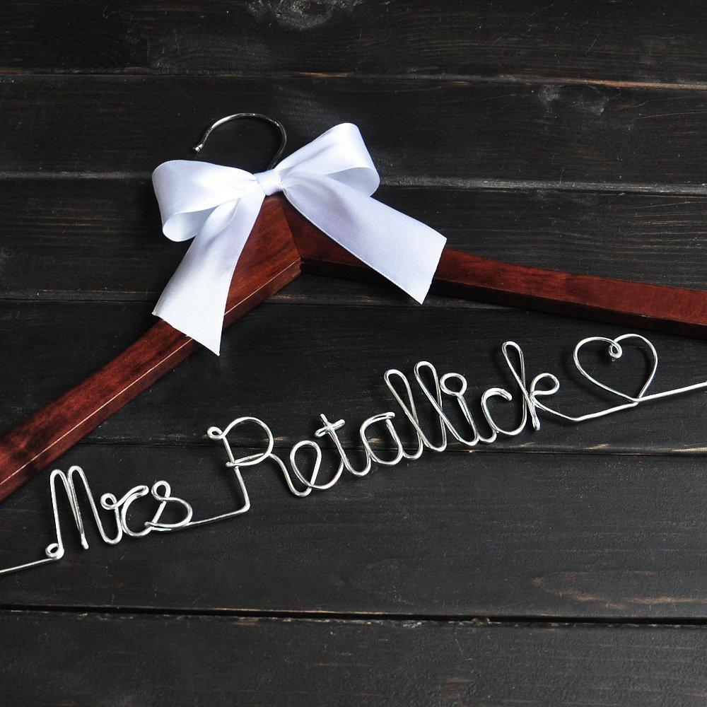 Wedding Hanger Personalized Wedding Dress Hanger, Custom Bridal Dress Hanger ...
