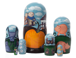 "The Gigantic Turnip Nesting Doll - 6"" w/ 7 Pieces - $44.00"