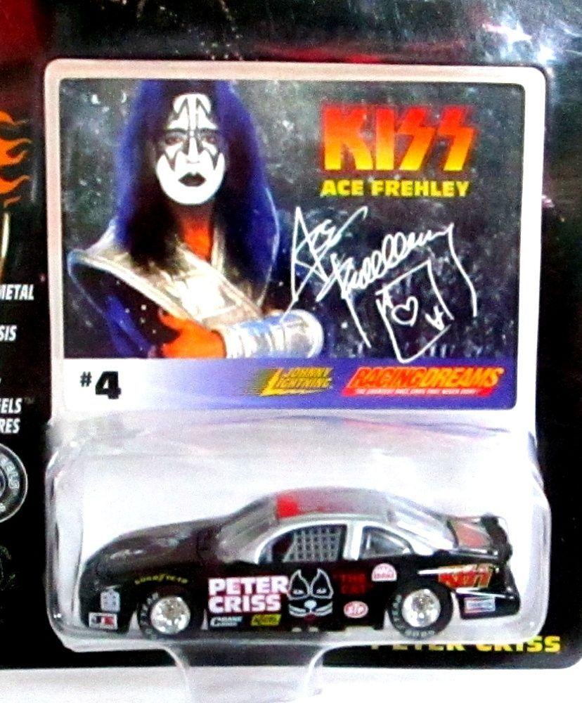 Johnny Lightning KISS Peter Criss Car & #4 Ace Frehley Signature Card Mint n Pkg