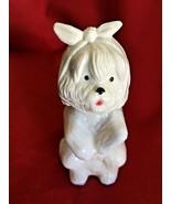 Empty Vintage AVON Maltese Dog with Toothache Figurine Perfume Bottle - £5.08 GBP