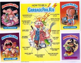 Garbage Pail Kids Giant Size Cards Lot #5 1986 Originals  - $5.00