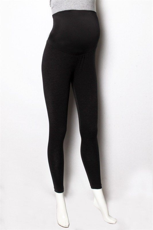 MATERNITY BLACK CHARCOAL GRAY PREGNANCY JERSEY STRETCH PANTS LEGGINGS #IP-510