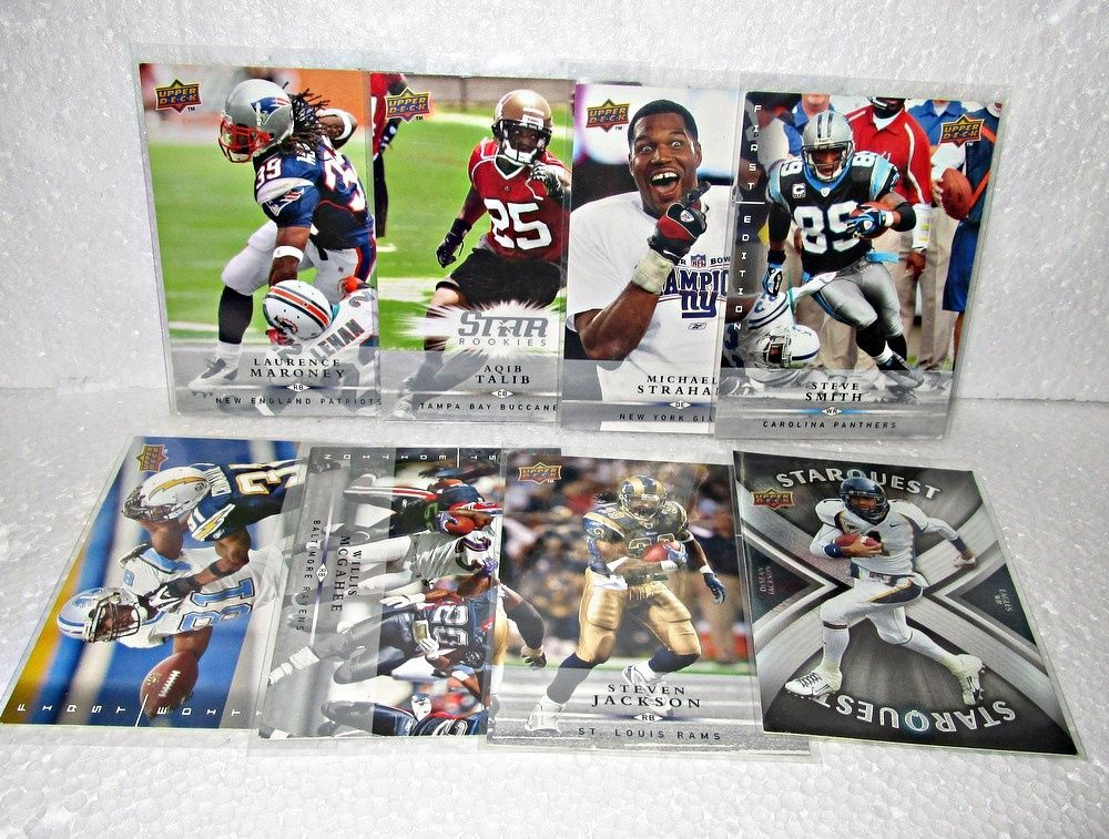 Football Upper Deck 2008 Lot of 48 Cards 9 Star Quest Rookie & More