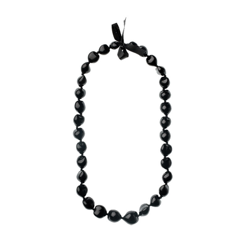 Kukui nut lei black 300 10017