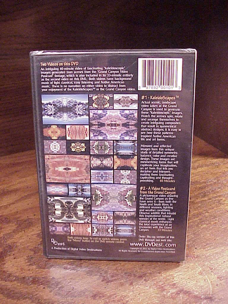 Nature's Kaleidoscapes Grand Canyon DVD, new and sealed