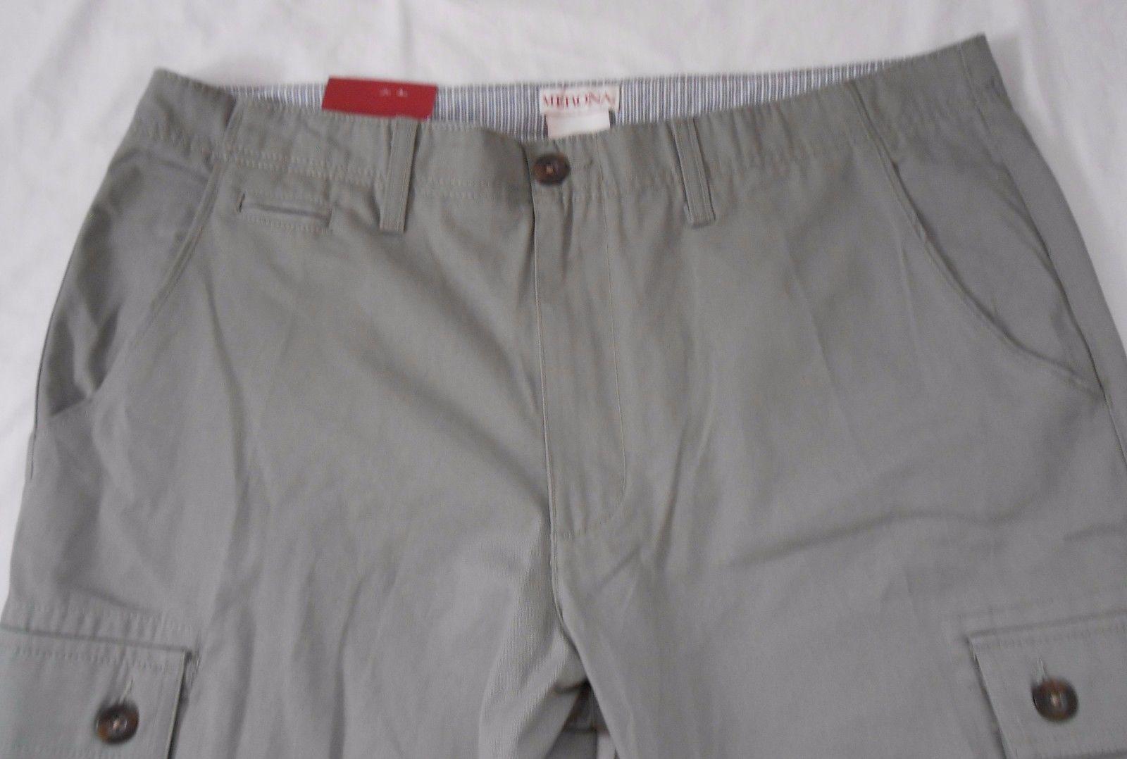 Merona 42 NWT Mens Flat Front Cargo Shorts Light Mint Green New