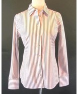 J. CREW Size M 6 8 Rose Pink Striped Fitted Sli... - $21.99
