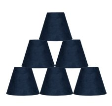 Urbanest Set of 6 3-inch by 6-inch by 5-inch Suede Clip-on Chandelier Sh... - $33.65