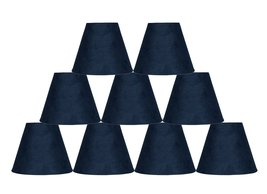 Urbanest Set of 9 3-inch by 6-inch by 5-inch Suede Clip-on Chandelier Sh... - $52.46