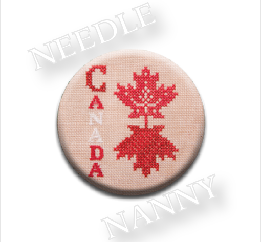 Canadian Patriotic Snippet #2 Needle Nanny cross stitch Jeanette Douglas
