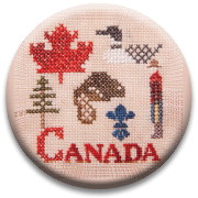 Primary image for Canadian Patriotic Snippet #1 Needle Nanny cross stitch Jeanette Douglas