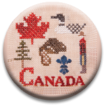 Canadian Patriotic Snippet #1 Needle Nanny cross stitch Jeanette Douglas  - $12.00