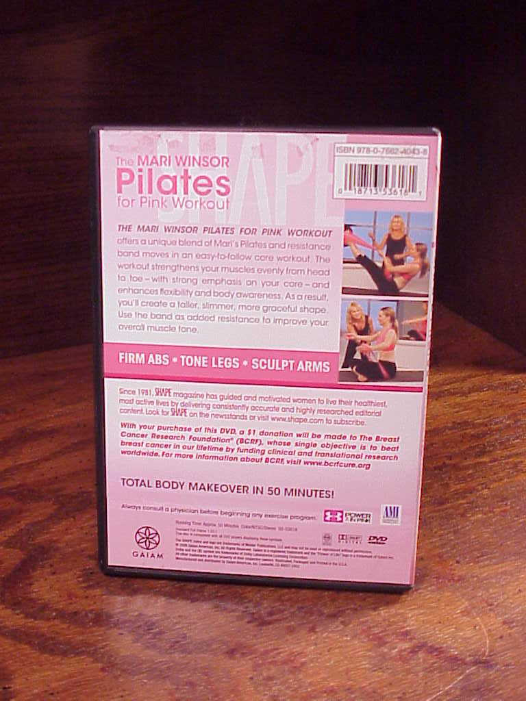 Shape Pilates for Pink Workout with Mari Winsor DVD, used