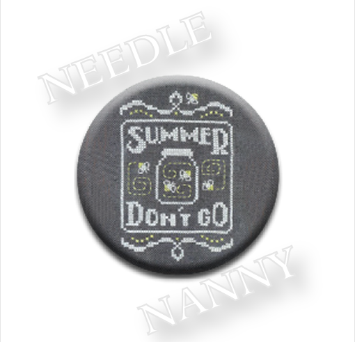 Summer Don't Go Needle Nanny needle minder cross stitch Hands On Design