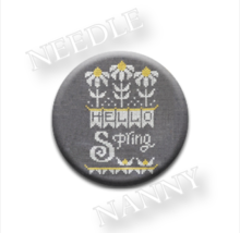 Hello Spring Needle Nanny needle minder cross stitch Hands On Design - $12.00