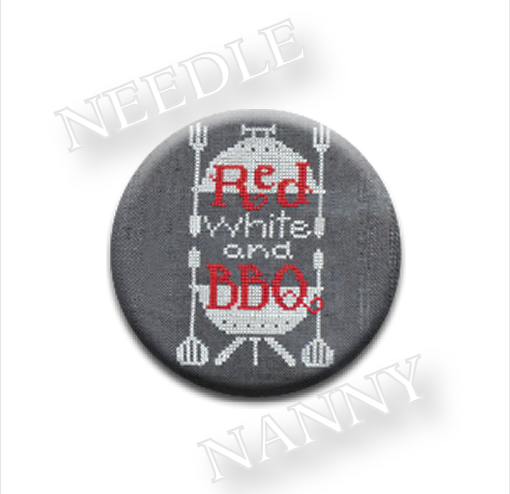 Primary image for Red White & BBQ Needle Nanny needle minder cross stitch Hands On Design