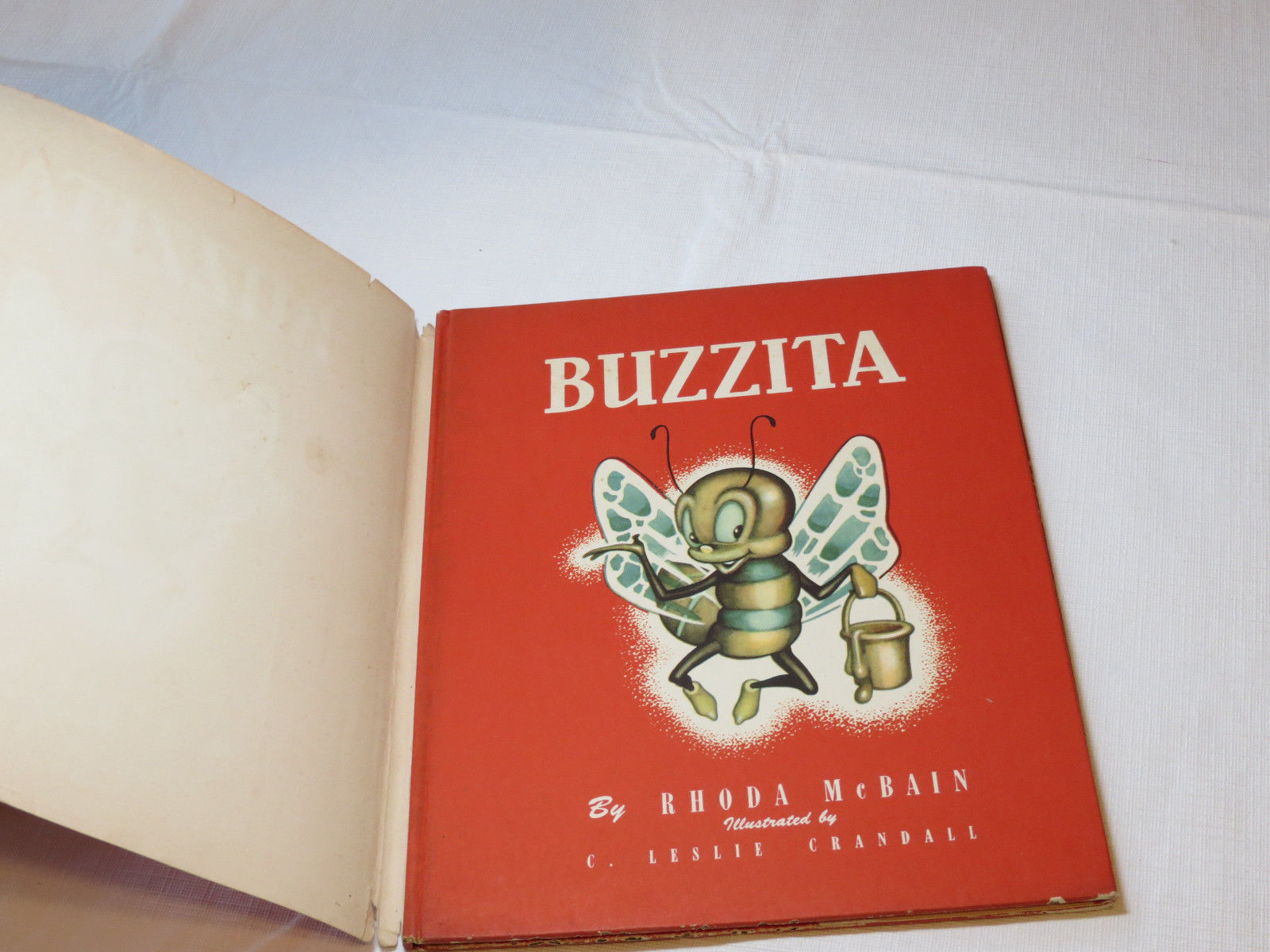 Buzzita by Rhoda McBainBumble Bees Book Hardcover Vintage RARE 1948 Illustrated