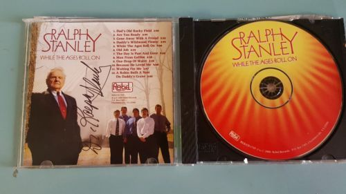 While the Ages Roll On Ralph Stanley CD (Nov-2000) Autographed/Signed Bluegrass