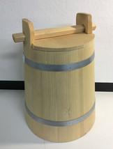Wooden Crock with Lid Fermentation Support Food Preserve Bucket 1 Liter ... - $25.83