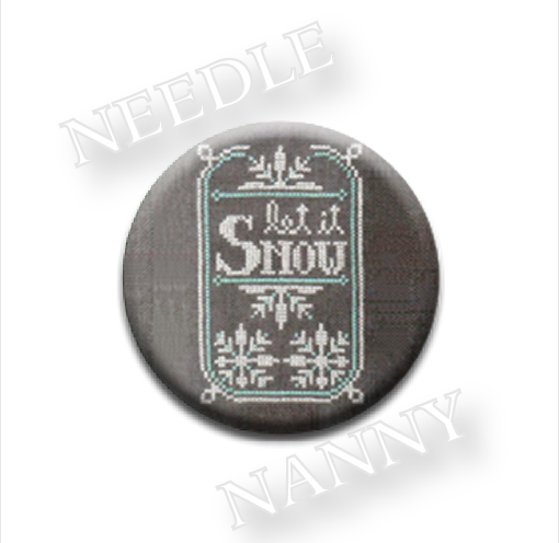 Let It Snow Needle Nanny needle minder cross stitch Hands On Design