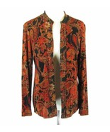 COLDWATER CREEK Size S Floral Travel Slinky Knit Jacket - $19.99