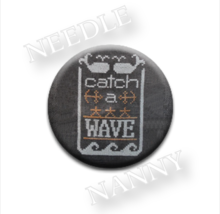 Catch A Wave Needle Nanny needle minder cross stitch Hands On Design - $12.00